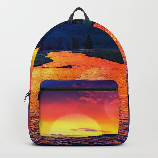 Sunset at Yellowstone Backpack