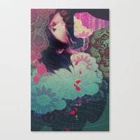 smoke Canvas Prints featuring smoke by kiDChan