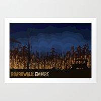boardwalk empire Art Prints featuring boardwalk empire by christopher-james robert warrington