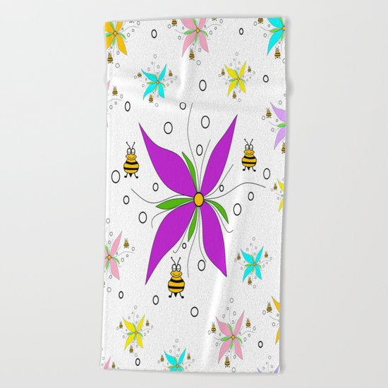 A Bees Paradise Beach Towel