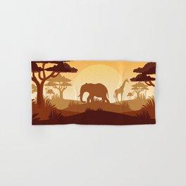 Abstract African Safari Hand & Bath Towel