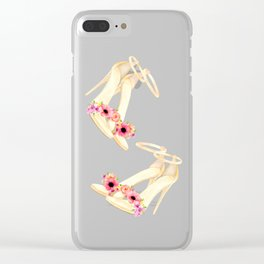 Floral high heels Clear iPhone Case