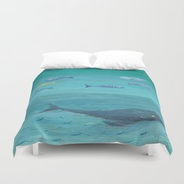 Over the sea Duvet Cover