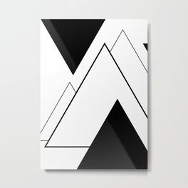 Minimal Mountains Metal Print