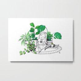 Plant Baby Metal Print