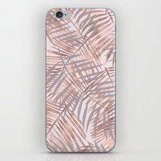 Shady rose gold palms iPhone & iPod Skin