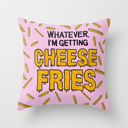 Cheese Fries Throw Pillow