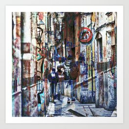 Offer all the trajectories traced out like detours Art Print