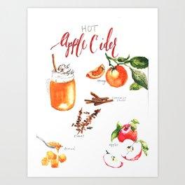 Fall Cider Art Print