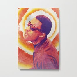 Stevie Wonder watercolour poster & print Metal Print
