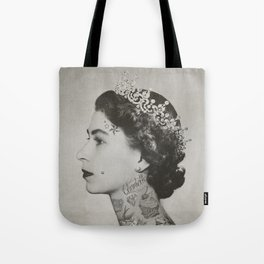 tattoo #queen #vintage Tote Bag