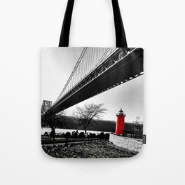 The Little Red Lighthouse - George Washington Bridge NYC Tote Bag