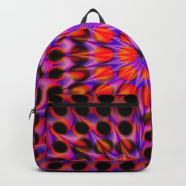 Warp Flow #1 Psychedelic Optical Illusion Trippy Moving Zooming Design Backpack