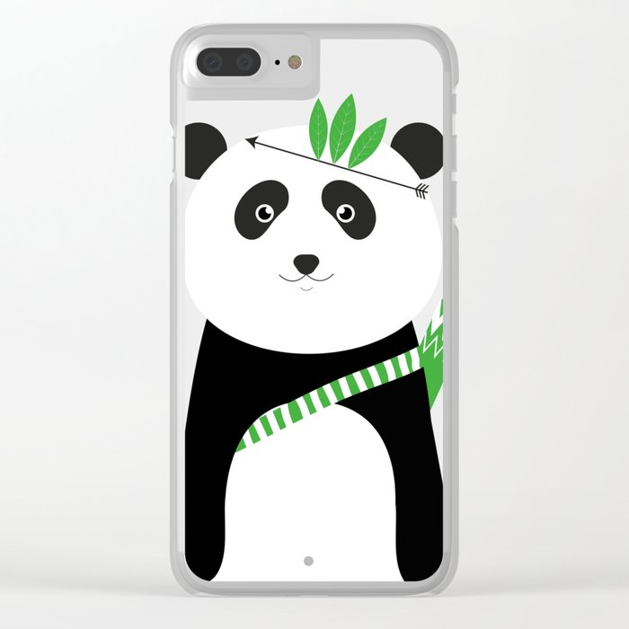 Be brave - panda Clear iPhone Case