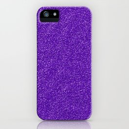 Shiny Glitter, Sparkling Glitter Glow - Purple iPhone Case