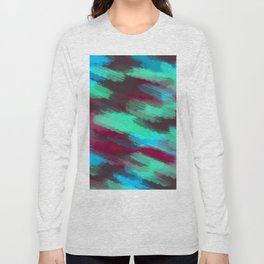 green blue red and brown painting texture abstract background Long Sleeve T-shirt
