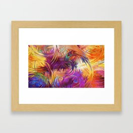 Explosion of Color Framed Art Print
