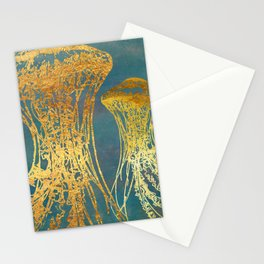 Deep Sea Life Jellyfish Stationery Cards