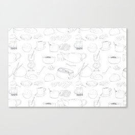 Chinese Restaurant Items Canvas Print