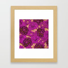 satin and lace flowers Framed Art Print
