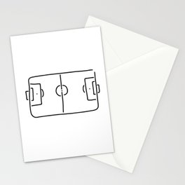 soccer football field Stationery Cards