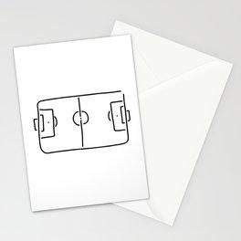soccer football field Stationery Cards