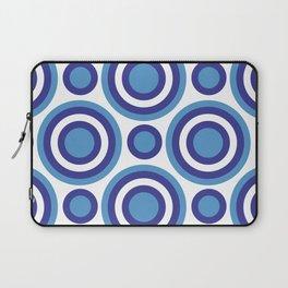 Circle Circle:  Turquoise, White + Navy Laptop Sleeve