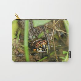 Box Turtle and Tadpoles Carry-All Pouch