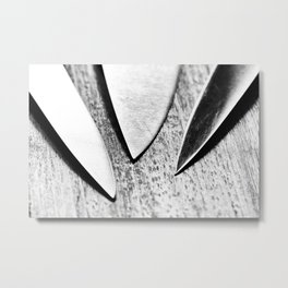 Cutlery 3: Just The Tip Metal Print