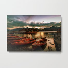 Boat Docks Metal Print