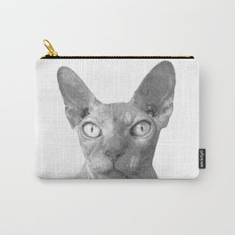 Black and White Sphynx Cat Carry-All Pouch