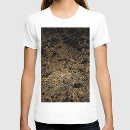 Paris map lights T-shirt