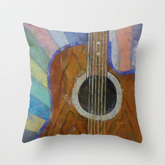 Guitar Sunshine Throw Pillow
