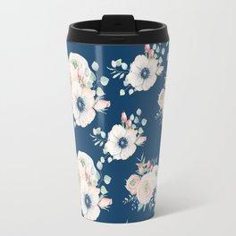 Dog Rose Pattern Travel Mug