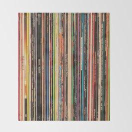 Alternative Rock Vinyl Records Throw Blanket