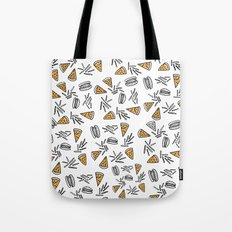 Burgers Pizza And Fries  Tote Bag