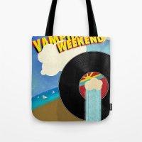 vampire weekend Tote Bags featuring Vampire Weekend - Chicago by Luke Eckstein