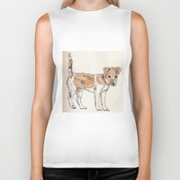 jack russell Biker Tanks featuring Jack Russell Terrier by Bryan James