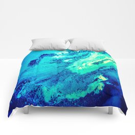 Abstract Blue Pattern Comforters