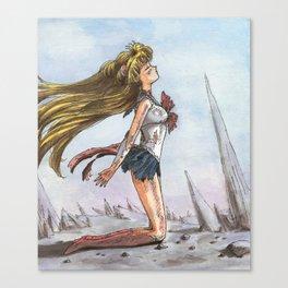 Sailor Moon After A Battle Canvas Print