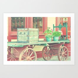 Baggage Cart Art Print