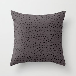 Speckled Pattern on Warm Grey Throw Pillow