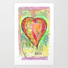 torn heart Art Print