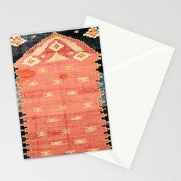 South West Anatolia  Antique Turkish Niche Kilim Print Stationery Cards