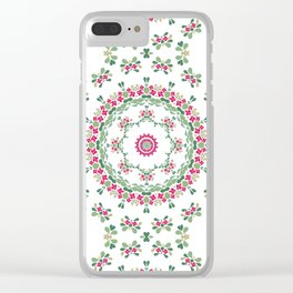 Ethnic floral ornament 2 Clear iPhone Case