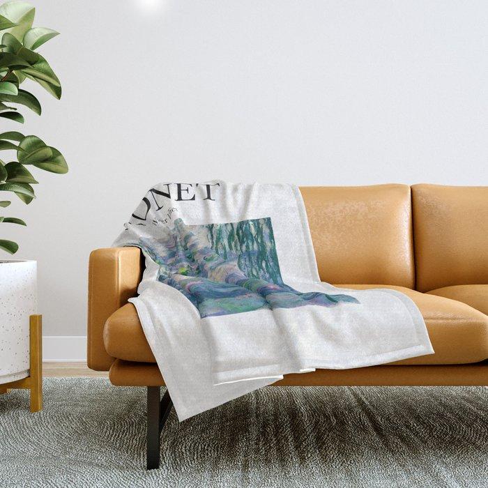 Monet - Water Lilies Throw Blanket