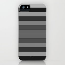 Black and Gray Stripes iPhone Case