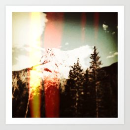 mountain top. Art Print