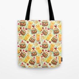 burgers, juices & fries Tote Bag