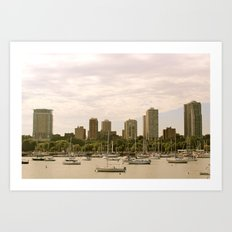 McKinley Marina - Milwaukee Art Print
